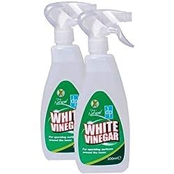 Vinagre blanco limpiador. Excelente para limpieza de microconductos, 500ml, 2 unidades