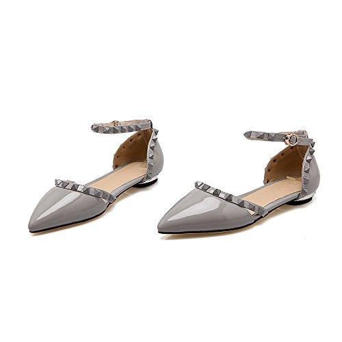 Guoar - Scarpe con cinturino alla caviglia Donna Grau