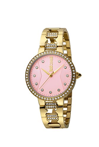 Just Cavalli Damen Analog Quarz Uhr mit Edelstahl Armband JC1L031M0085