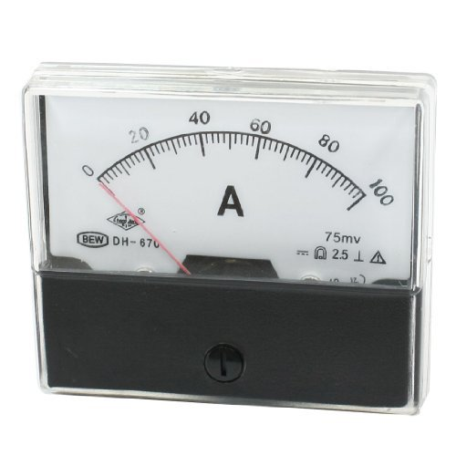 DealMux DH-670 Rectangle Dial 0-100ADC Aktuelle Teste-Panel Analog Amperemeter (Adc-panels)