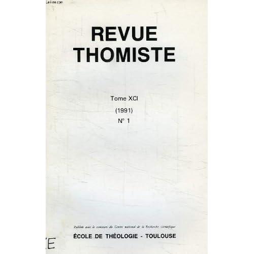 Revue thomiste, tome xci, n° 1, 1991, science et culture, intelligence artificielle