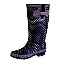 Stormwells Ladies Wide Fitting Leg Rubber Wellington Boots