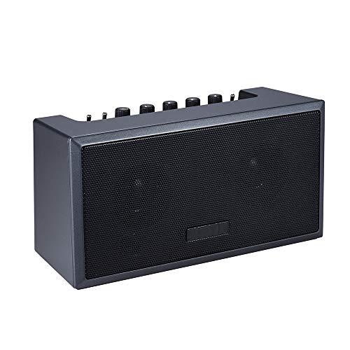 ZJH Tragbarer Gitarrenverstärker, wiederaufladbarer Mini-Bluetooth-Verstärker-Lautsprecher, akustisch für E-Bass, E-Gitarre,B
