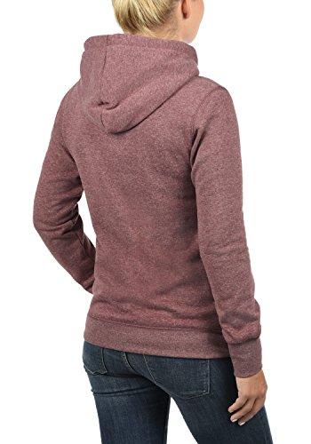 DESIRES Olive Damen Kapuzenpullover Hoodie Sweatshirt Wine Red Melange (8985)
