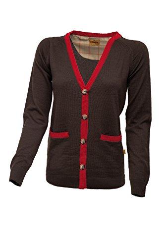 Original Fendt Damen Cardigan bzw. Strickjacke od. Weste in braun rot, Größe L, bzw. 42-44