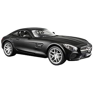 Maisto Mercedes AMG GT: Originalgetreues Modellauto mit Türen und Motorhaube zum Öffnen,Maßstab 1:24, Fertigmodell, 19 cm, schwarz (531134M)
