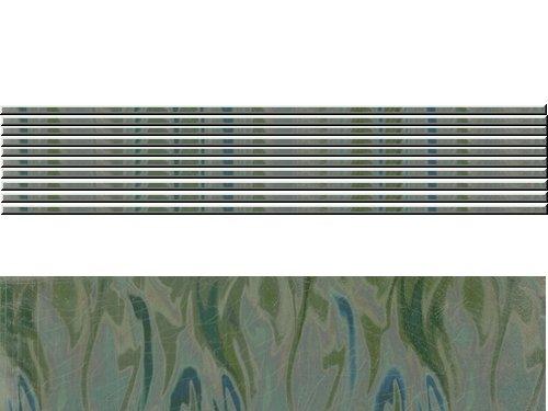 Wachsstreifen Metallic Welle, rund, hellgrün, 200 x 2 mm, 10 Stück
