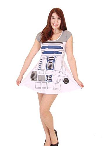 Star Wars I Am R2D2 Costume Skater Dress (Adult ()
