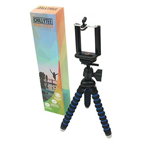 Stativ für Handy, Smartphone (z.B. iPhone), Webcam, Action Cam, kleine Kamera / Mini Tripod Dreibein / flexible biegsame Beine und Handy-Halterung