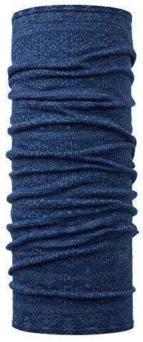 Buff Lightweight Merino Wool, Scaldacollo Uomo, Blu/Nero, Taglia Unica