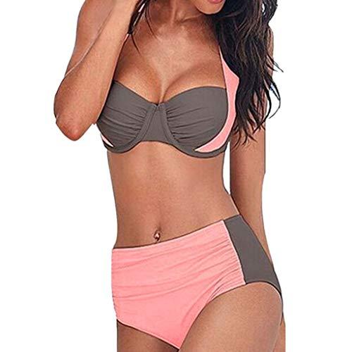 63af5f042177 LOVELYOU Bikini Donna Taglie Forti Due Pezzi - Ragazza Imbottito Reggiseno  Spiaggia Costumi da Bagno Vita