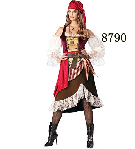 Gorgeous Piratin Kleidung Pirate Kostüme Halloween Partyausstattung RPG