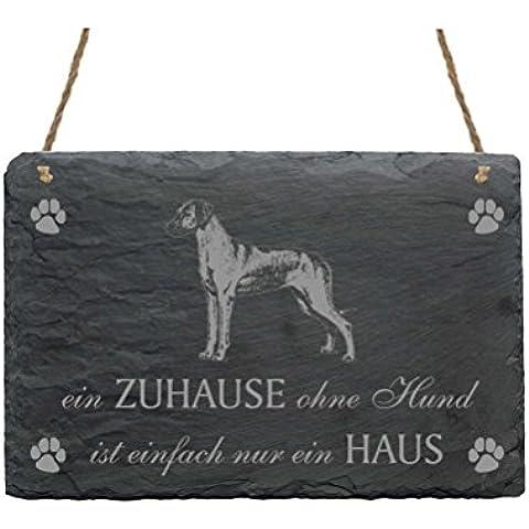 Pizarra Rhodesian Ridgeback « un hogar sin perro es Simplemente un hogar » con diseño 2Slate Sign perro
