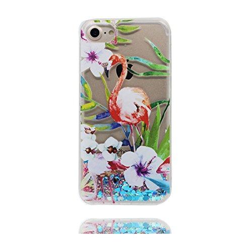 """iPhone 6s Hülle, Skin harte freie Handyhülle iPhone 6 / 6S, Glitter Bling Transparent Hard Clear funkelt Shinny fließend, iPhone 6 Case 4.7"""" Schock-bestän und Ring Ständer - Umbrella Mädchen # 1"""