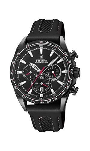 Festina Unisex Adult Chronograph Quartz Watch with Leather Strap F20351/3