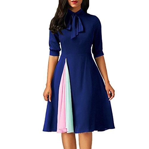 Kleid Wand (Damen Casual Halbarm Abend Party Kleid)
