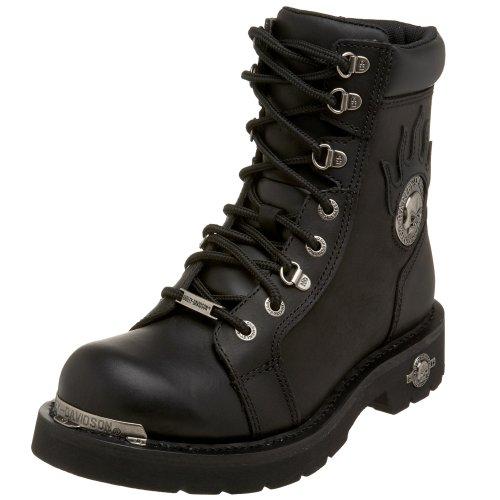 Harley Davidson Herren Diversion Leder Black Stiefel 43 EU Harley Biker-boots