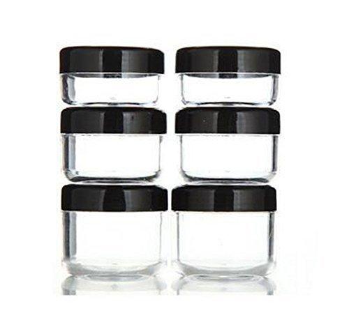6 PCS 10 ML / 15 ML / 20 ML Effacer En Plastique Vide Rechargeable Échantillon Bouteille Cas Cosmétique Visage Crème Flacon Pot Pot Bouteille Eyshadow Porte-Récipient avec Noir Couvercle à Capuchon à