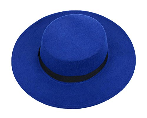 Unisex blau Fedora flache Zylinder (Fedora Grauer)