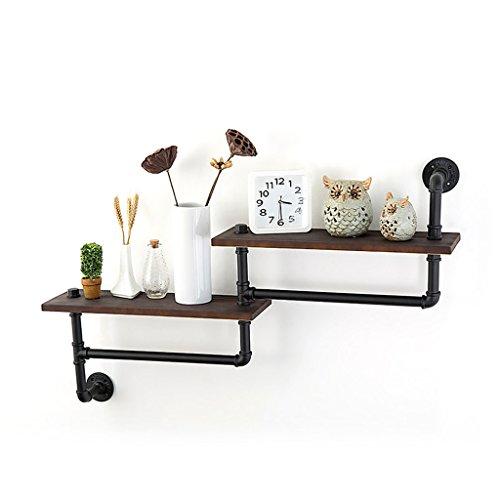 Loft-Art-Eisen-Rohr-Wand-angebrachtes Gestell für Wohnzimmer-Schlafzimmer-festes Holz-Laminat-hängender Ausstellungsstand -LI JING SHOP ( größe : 114*18*60cm ) (Laminat Cube)