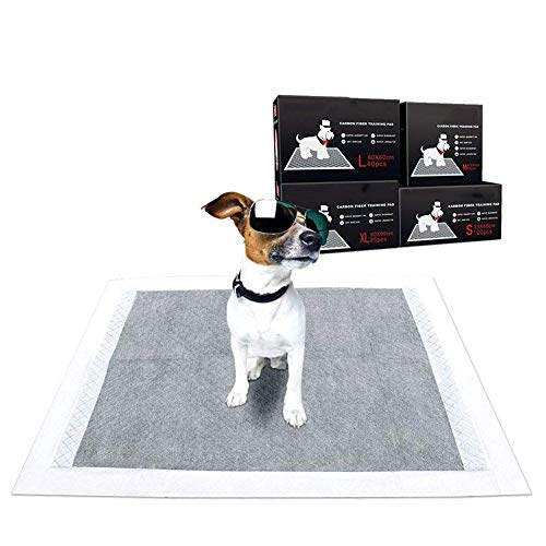 ZZQ Pastiglie per addestramento dell'animale Domestico Carbon Puppy Pee Wee Toilet Trainer Pad Super assorbenti Deodorizzazione Heavy Duty Dog Pads,XL25Count(90 * 60)