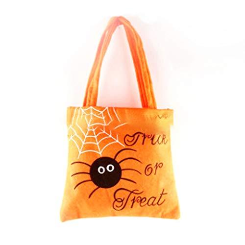 ZYCX123 Halloween-Süßigkeit-Geschenk Beutel mit Handgriff Trick-or-Treat Tote Bag Durable Non-Woven Fabric Halloween Candy Bag (Für Bulk-süßigkeiten Halloween)