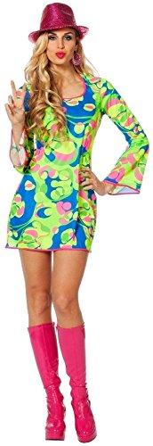 W4243-44 Damen Hippie Kleid Disco-Partykleid Gr.44