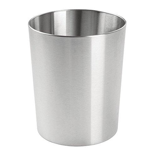 Mdesign cestino spazzatura in metallo – perfetto sia come cestino gettacarte che per la raccolta rifiuti – per cucina, bagno, ufficio, camera – design moderno