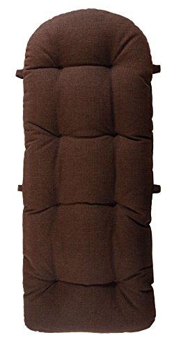 korb-outlet Schaukelstuhl Auflage Braun Polster Kissen 120x50 deutsche Herstellung Auflagekissen Kissenauflage für Schaukelsessel