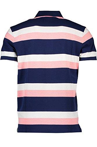 GANT Herren Poloshirt Thre Color Stripe Pique Rugger ROSA 651