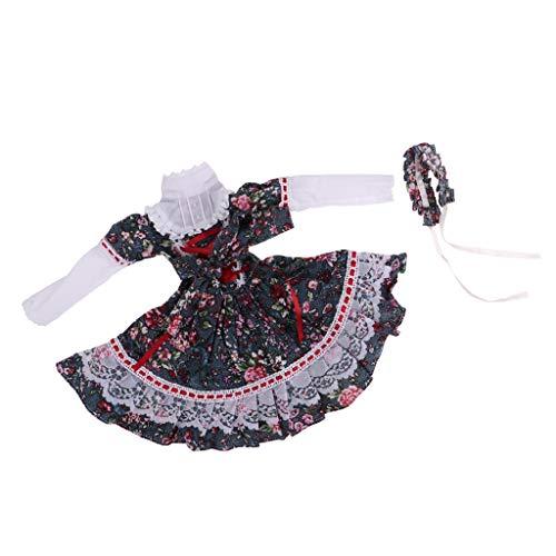 Baoblaze Handgemachte Elegante Puppenkleid Prinzessin Brautkleider Hose Shirt Mantel Hut Schleier...