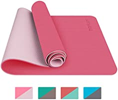 TOPLUS Gymnastics Mat, Yoga Mat, Padded & Non-Slip for Fitness Pilates & Gymnastics with Carry Strap –...