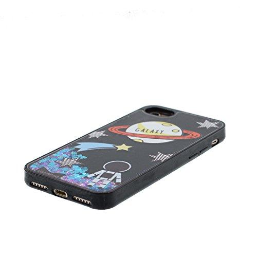 iPhone 6 Plus Custodia, Silicone trasparente duro Flowing Bling Cover Shell Semplice Progettato per iPhone 6s Plus Copertura (5.5 pollici), iPhone 6S Plus Case - e ring supporto [ Fenicottero ] COLOR 8