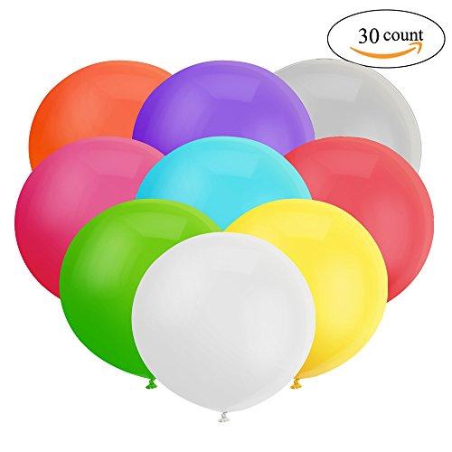 er Ballon Sortierter Latex Riesiger Luftballone Jumbo Dicke Ballone für Foto-Aufnahmen / Geburtstag / Hochzeitsfest / Festival / Event / Karnevals-Dekorationen 30ct / pack ()