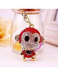 Banggood ELECTROPRIME Crystal Keyring Charm Pendant Bag Key Ring Chain Keychain Red Monkey