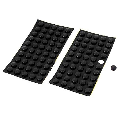 DealMux Rhome Tabelle Boden Kleber 10mm x 4mm Mini Gummi-Pads Schwarz 100 Stück (Boden-tabelle)