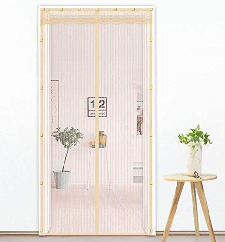 Liveinu zanzariera magnetica per porte finestre tenda zanzariera con magneti rete anti zanzare zanzariera versione aggiornata della clip adesiva giallo 120x240cm