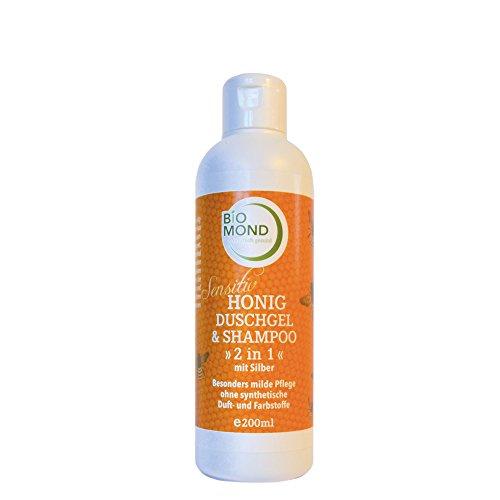 Honig Duschgel & Shampoo Sensitiv von BIOMOND *2 in 1* mit kolloidalem Silber / Naturkosmetik