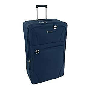 "Large 29"" Lightweight Luggage Wheeled Trolley Suitcase Case L Travel Bag (2125 - Navy)"