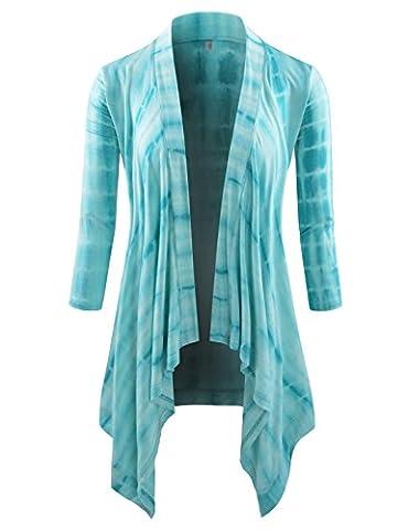 NEARKIN - Gilet - Moderne/ajusté - Motifs - Manches 3/4 - Femme - turquoise - XX-Large