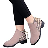 Sonnena bota corta martin - Botas cortas de mariposa de mujer Botines Zapatos de cuña bajos de moda