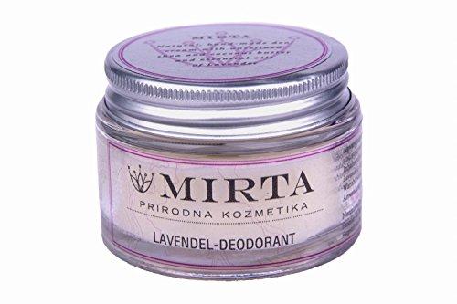 LAVENDEL DEODORANT (50ml) - Die kräftige Kombination aus natürlichem und wirkungsvollem Kokos, Sheabutter und ätherischem Lavendelöl neutralisiert Gerüche und sichert die natürliche Atmung der Haut - Deodorant Lavendel