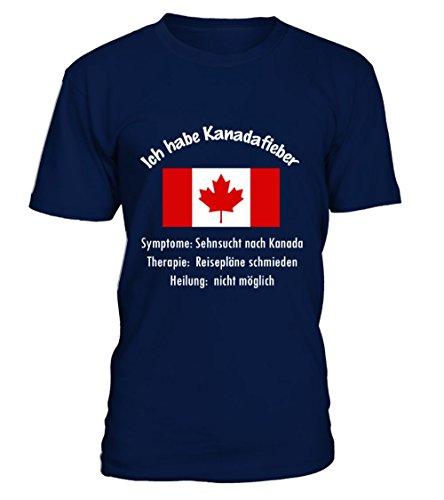 teezily Ich Habe Kanadafieber! - Kanada - Abenteuer T-Shirt Unisex (T-shirt Kanada Unisex)