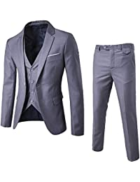 Traje Suit Hombre 3 Piezas Chaqueta Chaleco pantalón Traje al Estilo  Occidental 20f45eb3c9a