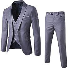 7b93aa00f57 Traje Suit Hombre 3 Piezas Chaqueta Chaleco pantalón Traje al Estilo  Occidental