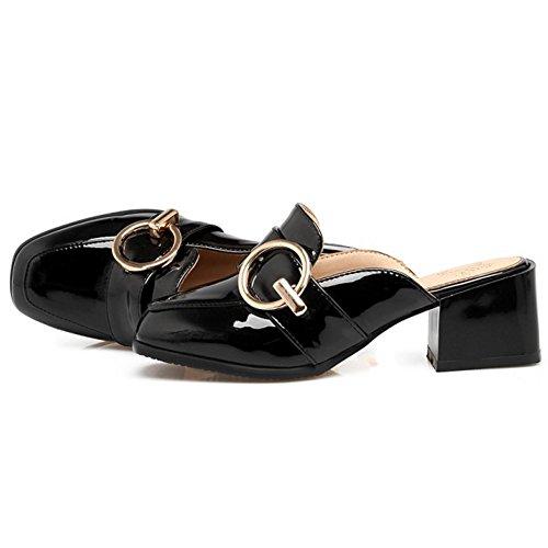 TAOFFEN Donna Moda Chiuse Pantofole Black