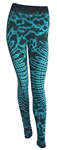 Tye Die Leggings Yoga Hose Yoga Pants Batik Hippie Boho (Gummibänder Tie Dye)