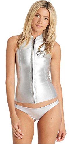 BILLABONG Salty DayZ 1MM Neoprenanzugweste Top Metallic Silver - Damenanzugweste Colorblocked Zip