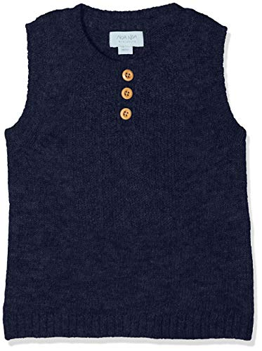 NOA NOA MINIATURE Noa Noa miniature Baby-Jungen Weste Boy Wool Knit Blau (Dress Blue 315) 62 (Herstellergröße: 3M)
