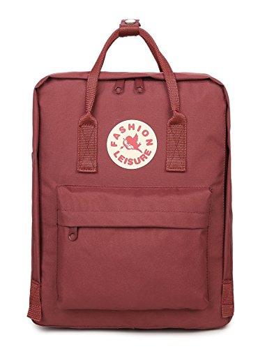 Tibes Zaino Della Scuola Borsa Zaino Backpack Laptop Schoolbag Zaino Per Scuola Zaino Per Pc Vino rosso